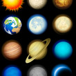 Stock Vector: Solar system icons