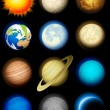 Solar system icons - Stock Vector