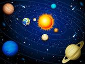 Sistema solar — Vector de stock
