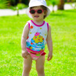Toddler girl in sunglasses — Stock Photo