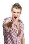 Glada skadliga ung man — Stockfoto