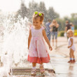 Girl about fountain — Stock Photo #5494453