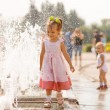 Stock Photo: Girl about fountain