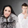 Stock Photo: Family couple has quarreled