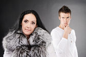 Family couple has quarreled — Stock Photo