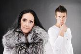 Family couple has quarreled — Stock Photo