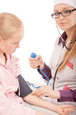 Pediatrician and patient — Stock Photo