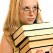Portrait of schoolgirl with books — Stock Photo #5765748