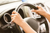 Stuur van auto — Stockfoto