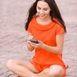 Young nice woman with PDA — Stock Photo #5844279