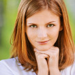 Portrait of beautiful young blond woman — Stock Photo