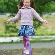 Little cute girl on playground — ストック写真