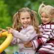 Two little playing girls — Stock Photo