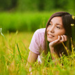 Young dreamy girl — Stock Photo