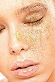 Closeup ritratto di giovane donna — Foto Stock