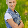Portrait of young smiling woman - Foto de Stock