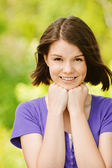 Portrait of young cheerful woman — Stock Photo