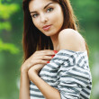 Portrait of young charming lady — Stock Photo