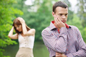 Young couple facing problems — Stock Photo