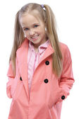 Portrait of little fair haired girl — Stock Photo