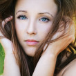 Close-up portrait of beautiful young woman — Stock Photo #6554595