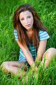 Portrait of beautiful brunette girl — Stock Photo