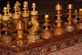Wooden chess board — 图库照片