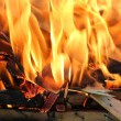 Stock Photo: Fire closeup