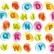 Royalty-Free Stock Vector Image: Joyful alphabet in colorful drops