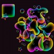 Colorful abstract background with star and wave — Imagen vectorial