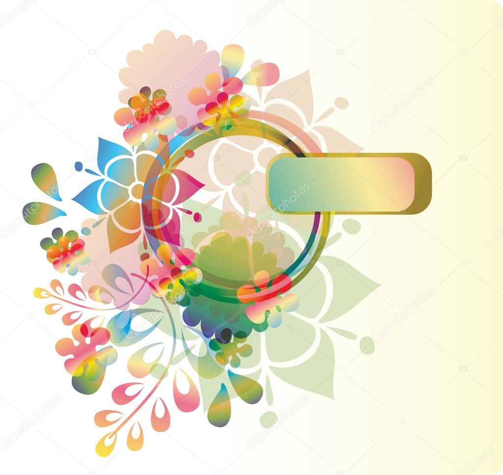 Bright floral background, eps10 — Stock Vector #5946732