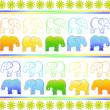 Royalty-Free Stock Vector Image: Background with elephants