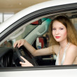 Beautiful woman at the car — Stock Photo #6377778