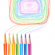 Color pencils drawings — Stock Vector