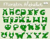 Joyful Cartoon font - from A to Z — Stock Vector