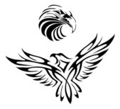 Tattoo of an eagle — Stock Vector
