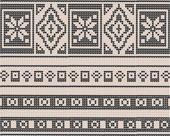 Ornament in the Scandinavian motif — Stock Vector