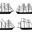 Collection of the ships — Stock Vector