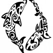 Tattoo of dolphins — Stock Vector #6664080
