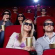 Young in 3D cinema — Stok fotoğraf
