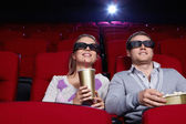 Couple at cinema — Stock Photo