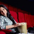 Beautiful girl at the cinema — Stock Photo