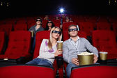 Watch movies in cinema — Stock Photo