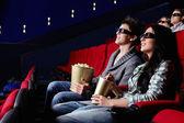 In the cinema — Stock Photo