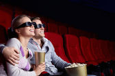 Couple in the cinema — Stock Photo