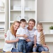 Family at moving — Stock Photo