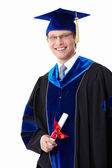 A student with a diploma — Stock Photo