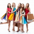 Happiness shopping — Stock Photo