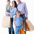 Family with shopping — Stock fotografie #5643124