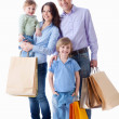 Family with shopping — Stock fotografie